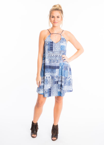 FALL FOR BLUES DRESS