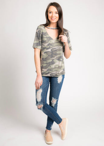 GONE CAMO TOP