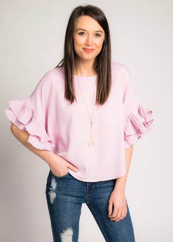 TIME TO BLOOM RUFFLE TOP