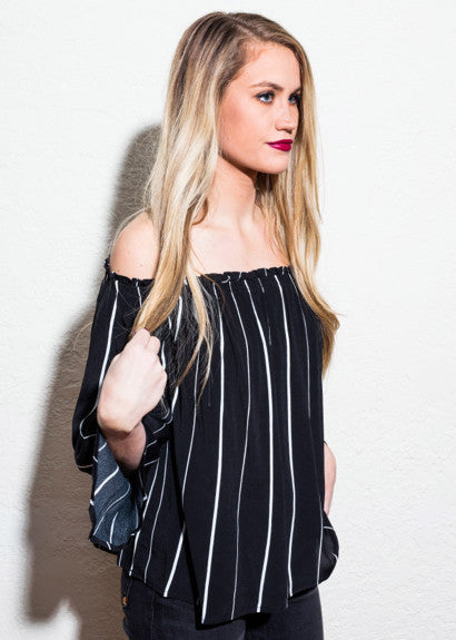 SULTRY STRIPES TOP