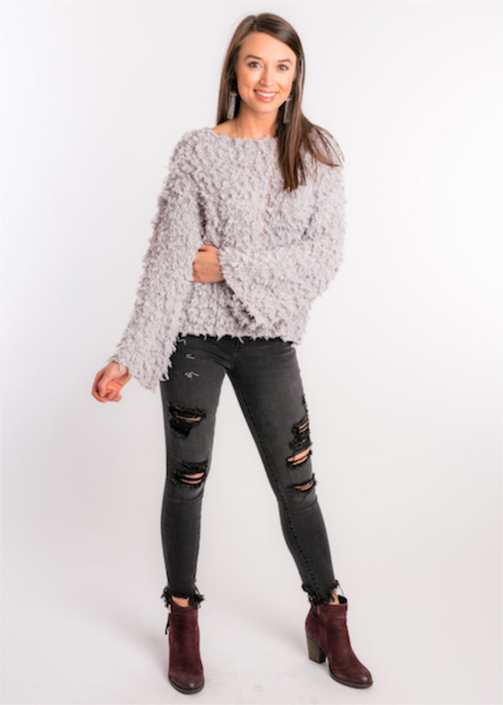 ALL ABOUT THE FUZZ SWEATER