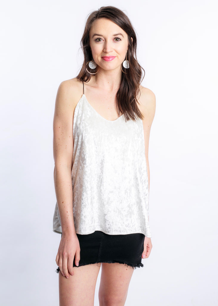 HEY HONEY VELVET TANK TOP