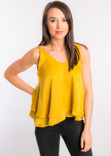GOLDEN HOUR RUFFLE TANK