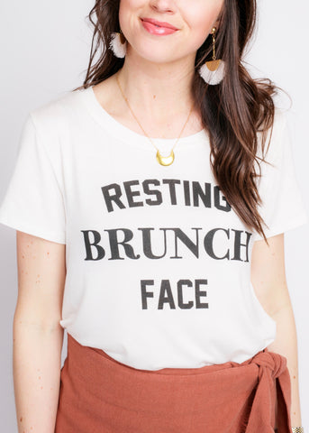 RESTING BRUNCH FACE GRAPHIC TEE