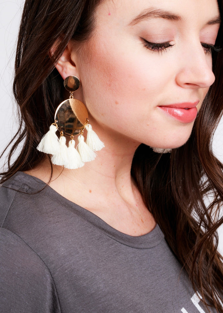 GOOD TO GO FRINGE EARRINGS