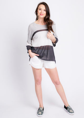 SEE FOREVER STRIPE TOP