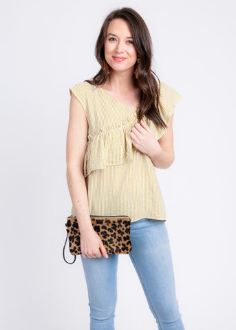 LOVE IT LEOPARD COWHIDE CLUTCH