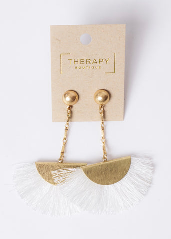 EYES ON YOU DROP FRINGE EARRINGS