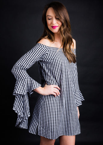 SOUTHERN SHOW GINGHAM DRESS