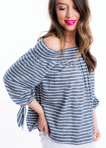 HIT THE SEA OFF THE SHOULDER TOP