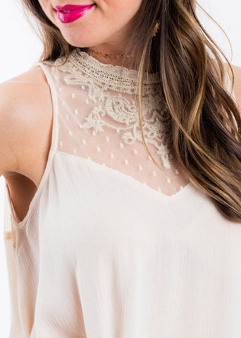 HER TIME LACE TOP