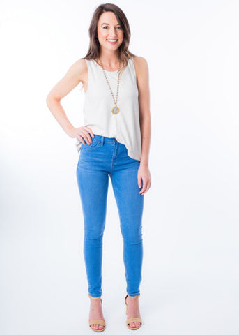 KORA MID-RISE SKINNY JEANS BY UNPUBLISHED