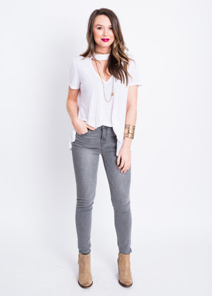 OLIVIA HIGH RISE SKINNY JEANS BY UNPUBLISHED