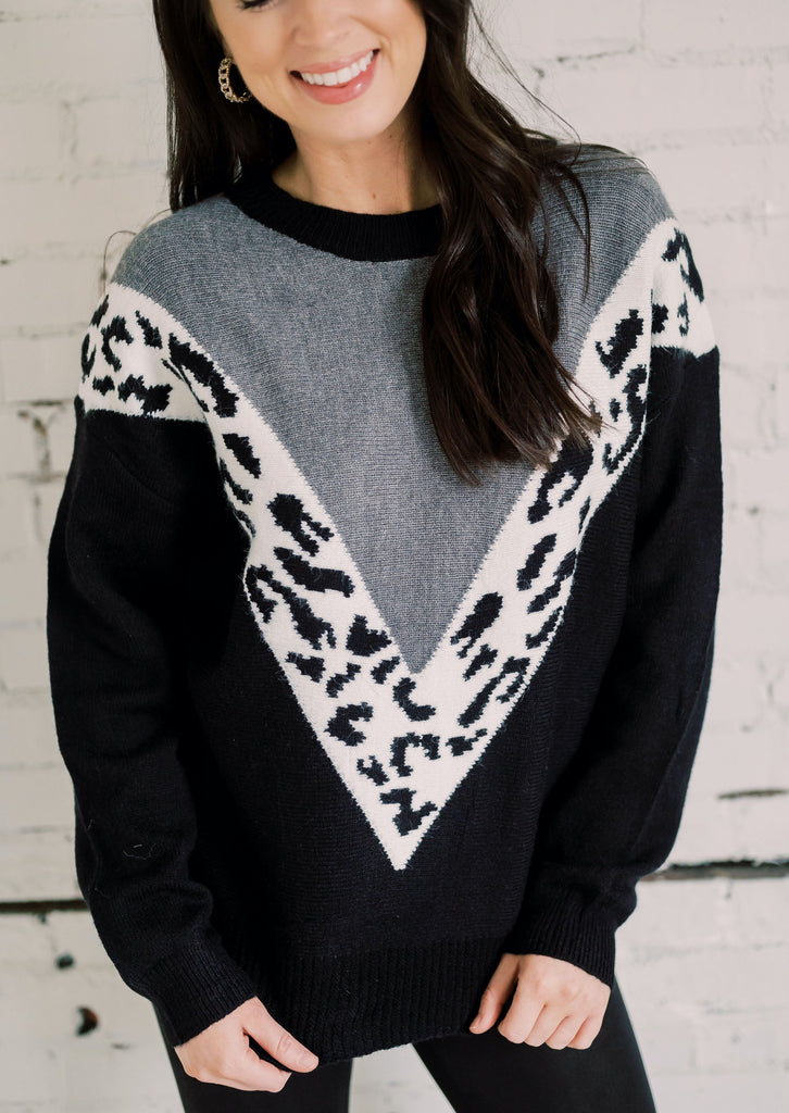 RUN THE WORLD LEOPARD SWEATER