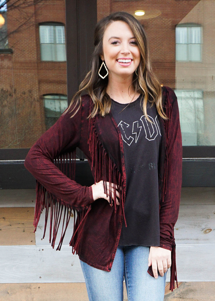 FOREVER FRINGE SWEATER