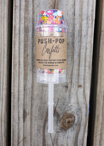 RAINBOW RADIANT PUSH-POP CONFETTI