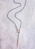 LAYER THE LOOP LARIAT NECKLACE