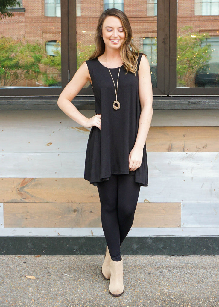 BASICALLY BLACK TUNIC DRESS