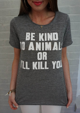 """BE KIND TO ANIMALS"" TOP"