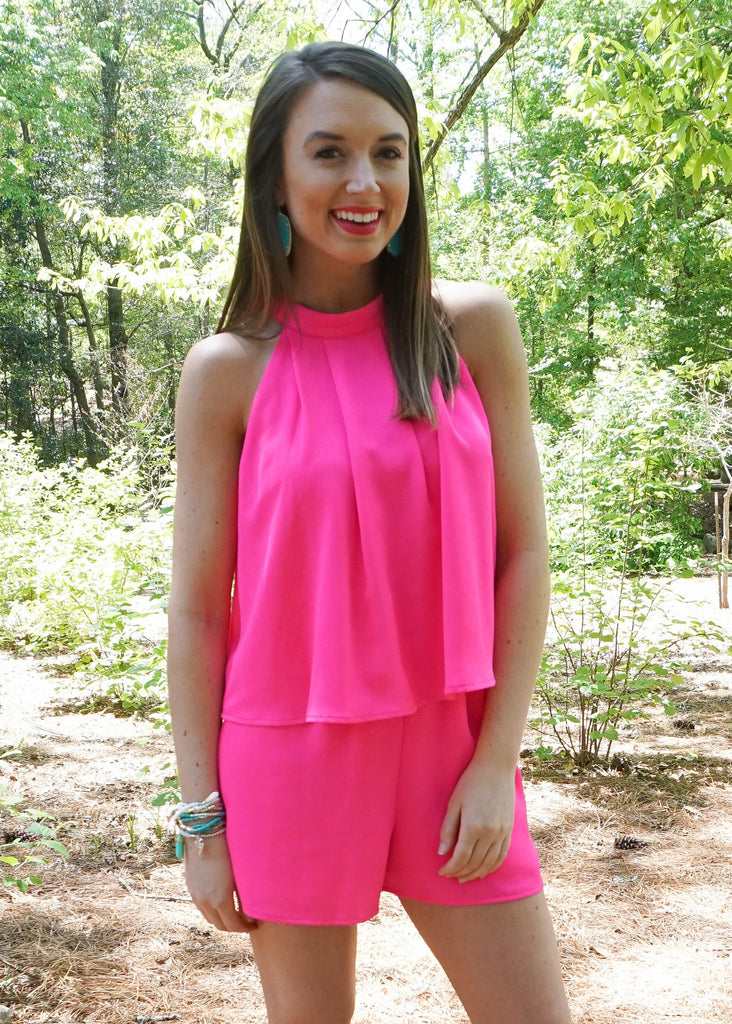 TICKLE ME PINK ROMPER