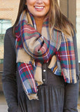 PLAY IT PLAID BLANKET SCARF