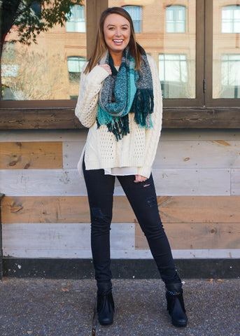 THE TEAL DEAL SCARF