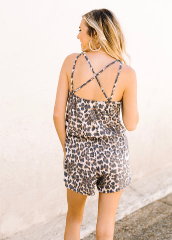 FEELING COOL LEOPARD ROMPER