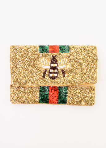 BEE YOU SMALL BEADED CLUTCH