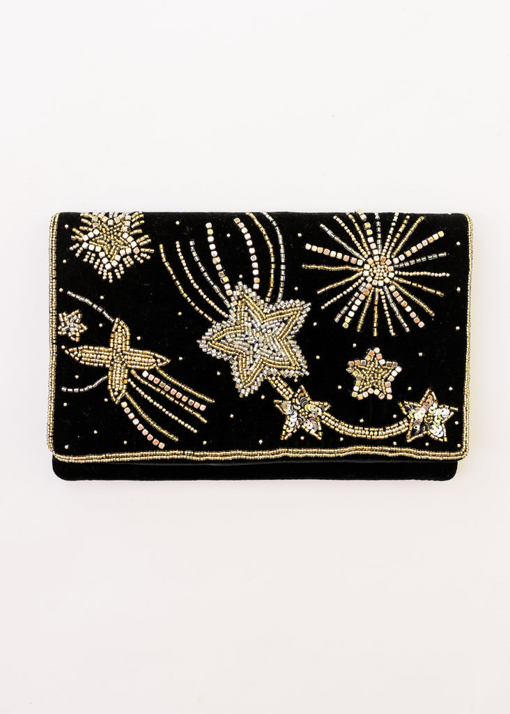 DAZZLING STARS BEADED CLUTCH