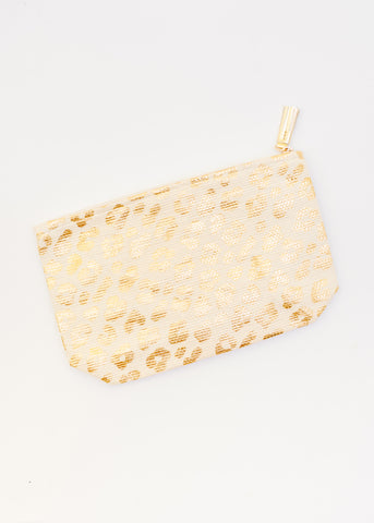 GOT IT ALL GOLD LEOPARD POUCH