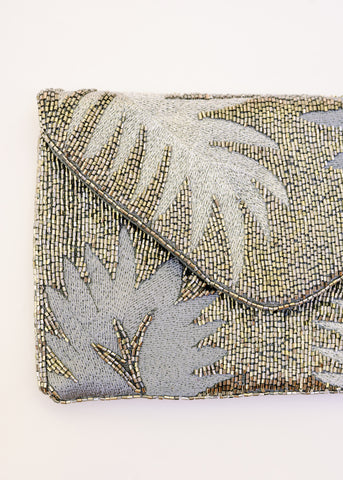 AROUND THE CLOCK BEADED CLUTCH
