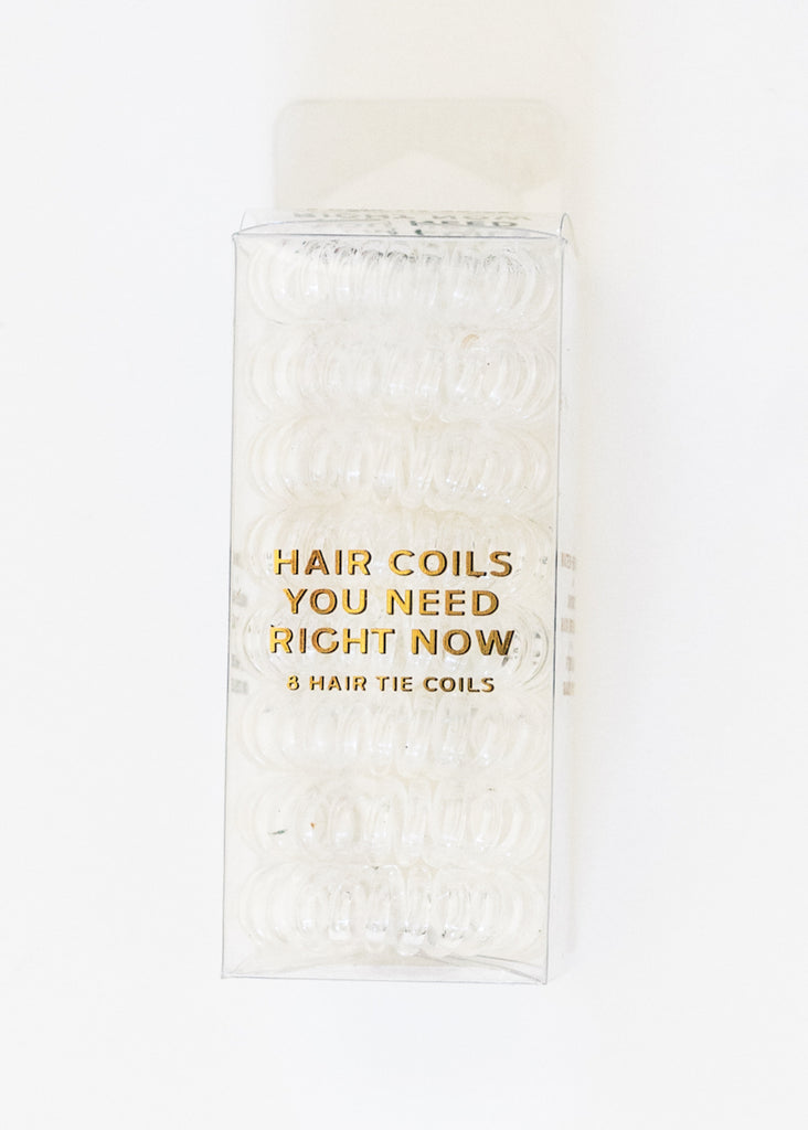 8 PACK HAIR COILS - CLEAR