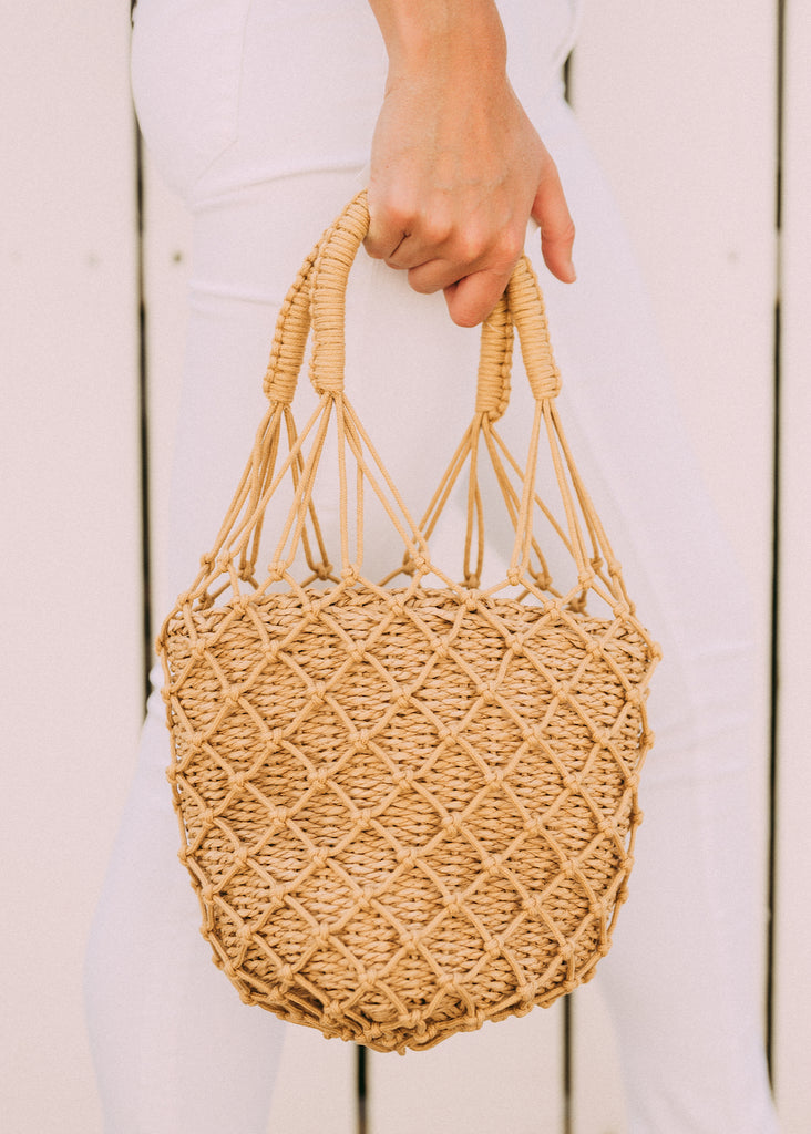 BRIGHT DAYS NETTED HANDBAG