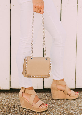 EVERY MOMENT STUDDED HANDBAG