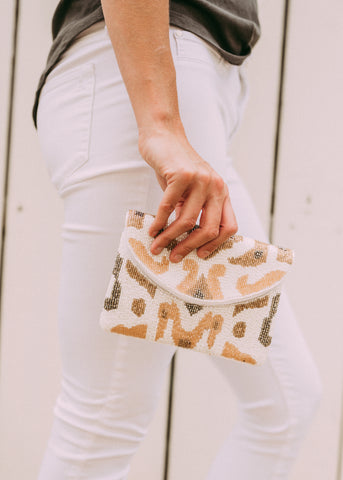 SEE THE CHANGES SMALL BEADED CLUTCH