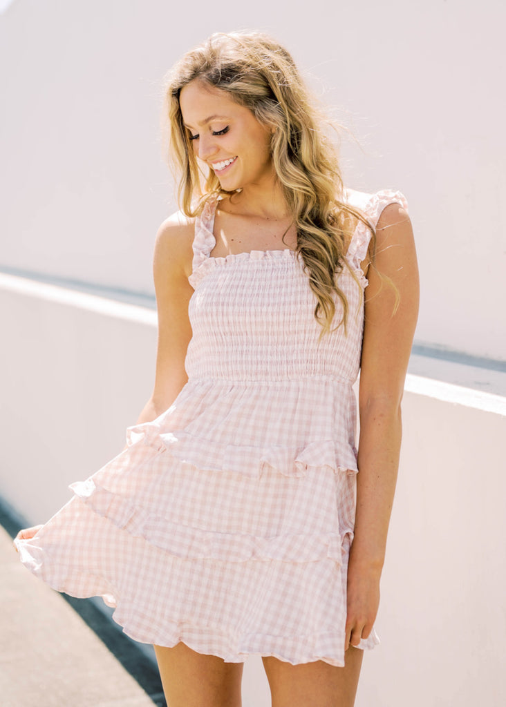 SHOW ME SWEETHEART GINGHAM DRESS