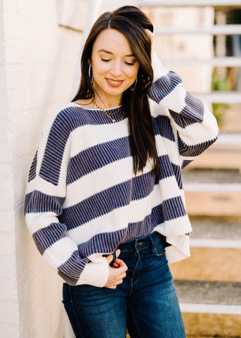 BEST EVER STRIPE SWEATER