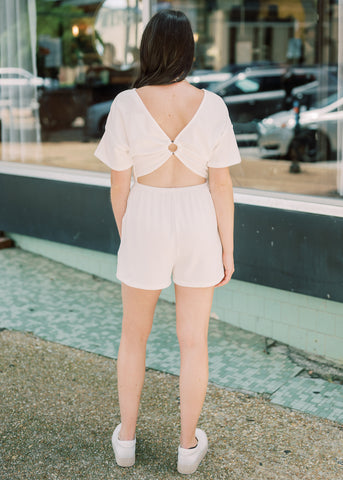 RING IT IN OPEN BACK ROMPER