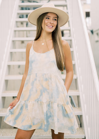 IN THE CLOUDS TIE-DYE DRESS
