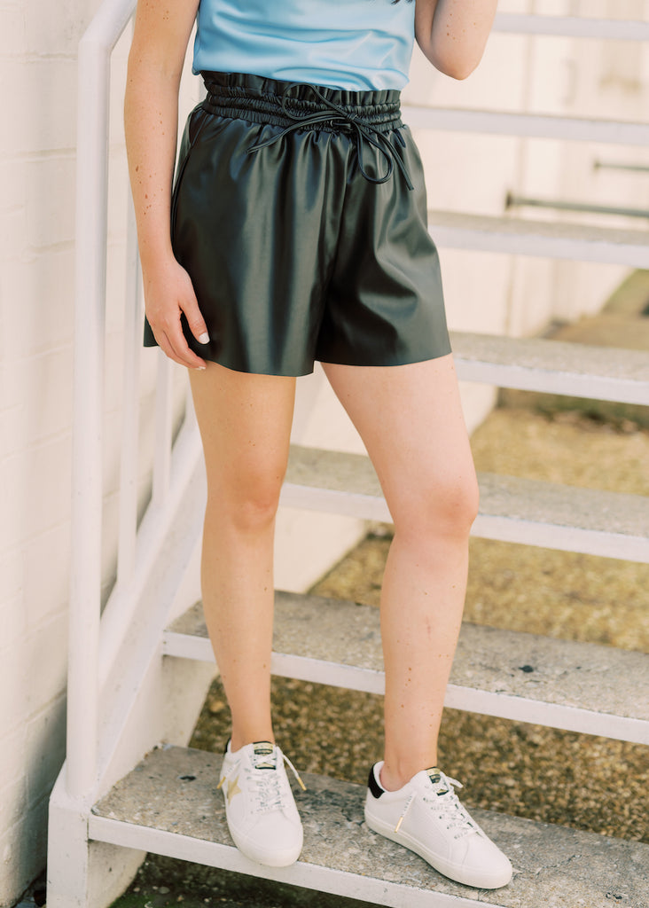 FEELING FRESH LEATHER SHORTS