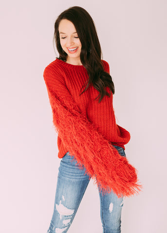 HARD TO FORGET FRINGE SWEATER
