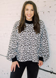 TAKE AIM ANIMAL PRINT OVERSIZED TOP