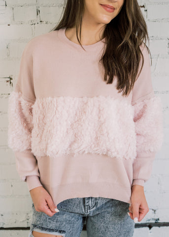 KISS KISS FUZZY SWEATER