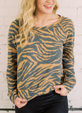 WILLFUL AND WILD ANIMAL PRINT TOP