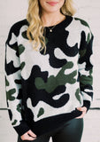 CALL TO ACTION CAMO SWEATER