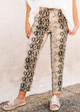 HERE WITH ME SNAKE PRINT PANTS