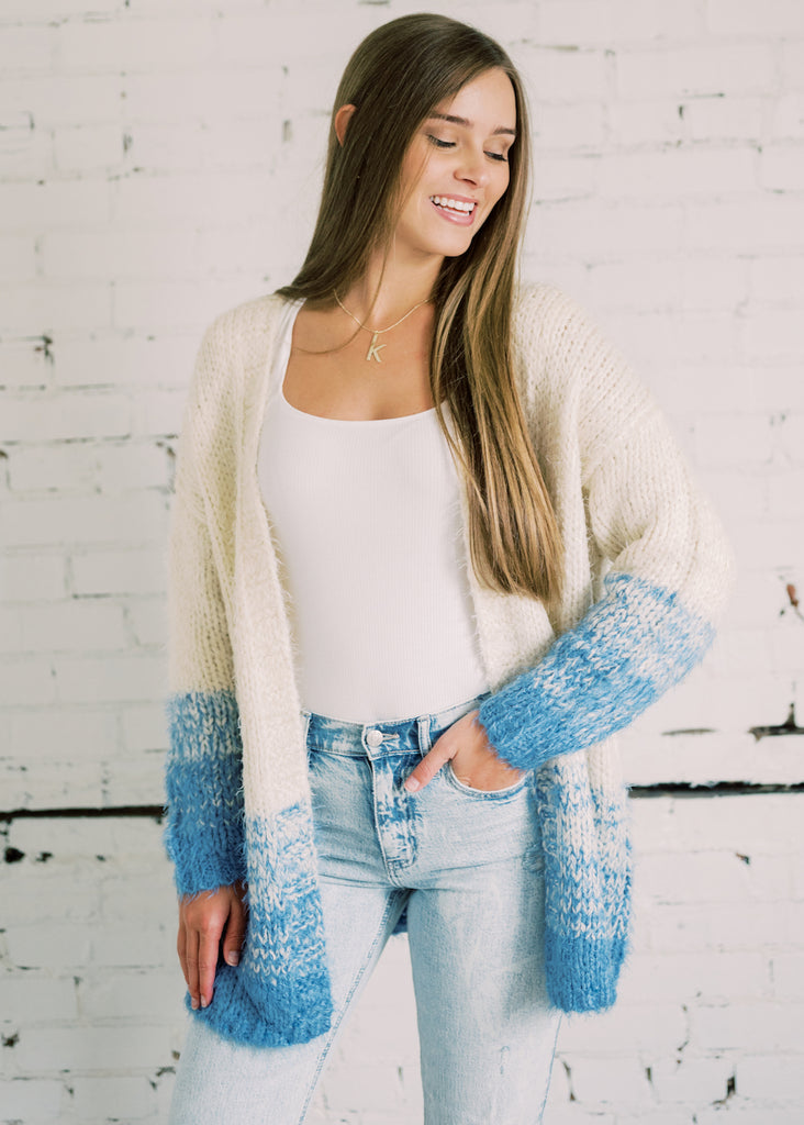 UNDER THE SKY OPEN CARDIGAN
