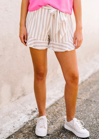 ALL TO YOURSELF STRIPE SHORTS