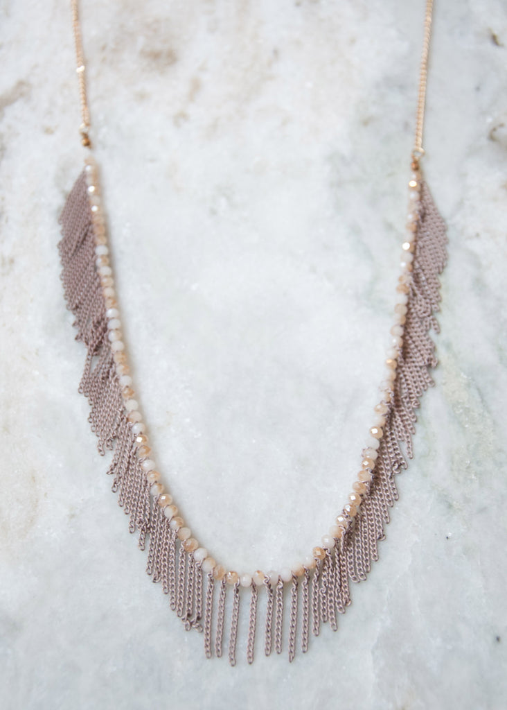 OH SO FRINGE NECKLACE