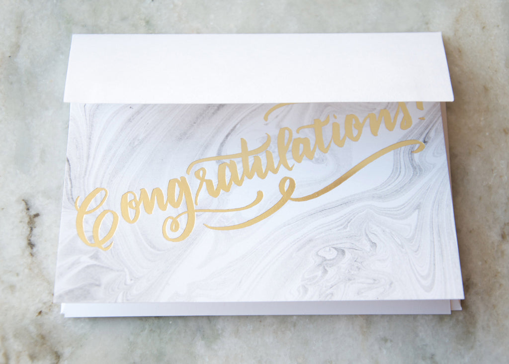 CONGRATULATIONS MARBLE GREETING CARD
